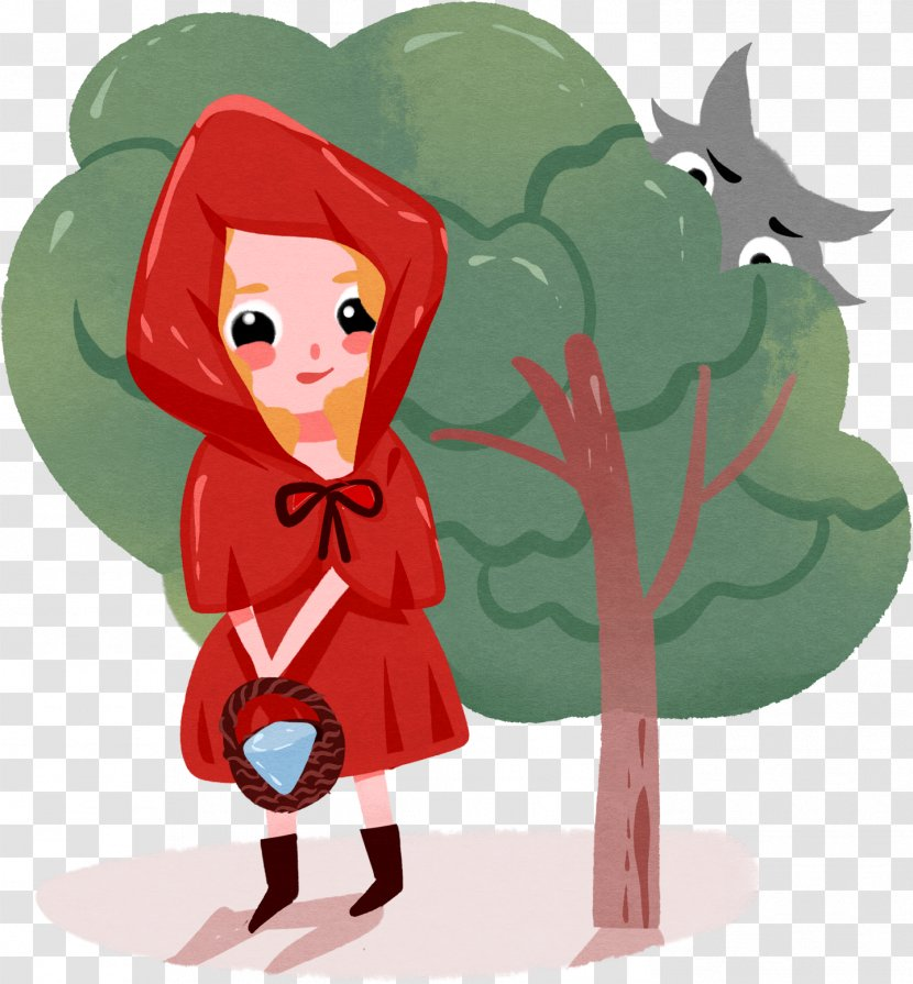 Illustration Little Red Riding Hood Fairy Tale Clip Art Drawing Happy Canada Day Cartoon Artist Transparent