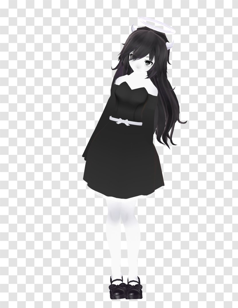 Black Hair Cartoon Character Alice Dress Transparent Png