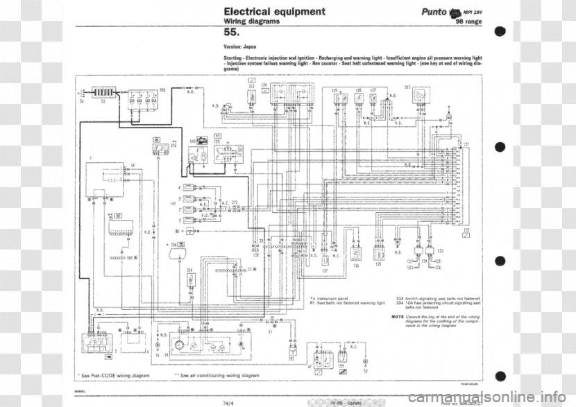 Fiat Punto Panda Stilo Automobiles - Wiring Diagram - Yamaha FZ16  Transparent PNGPNGHUT