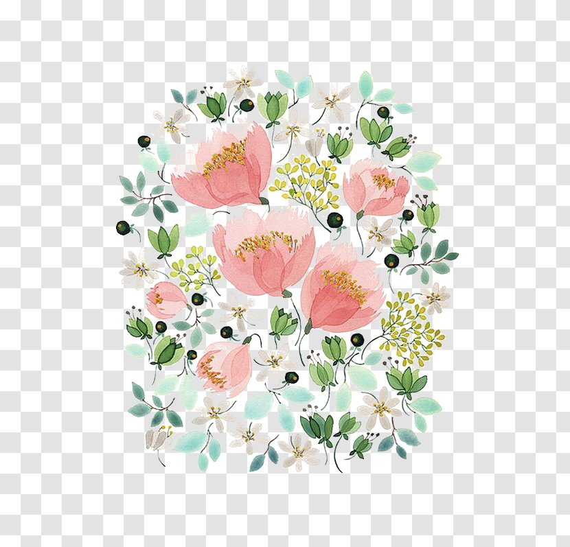 Floral Design Watercolor Painting Drawing Artist Illustration - Petal - Flowers Transparent PNG
