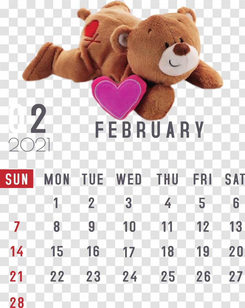 February 2021 Printable Calendar February Calendar 2021 Calendar Transparent PNG