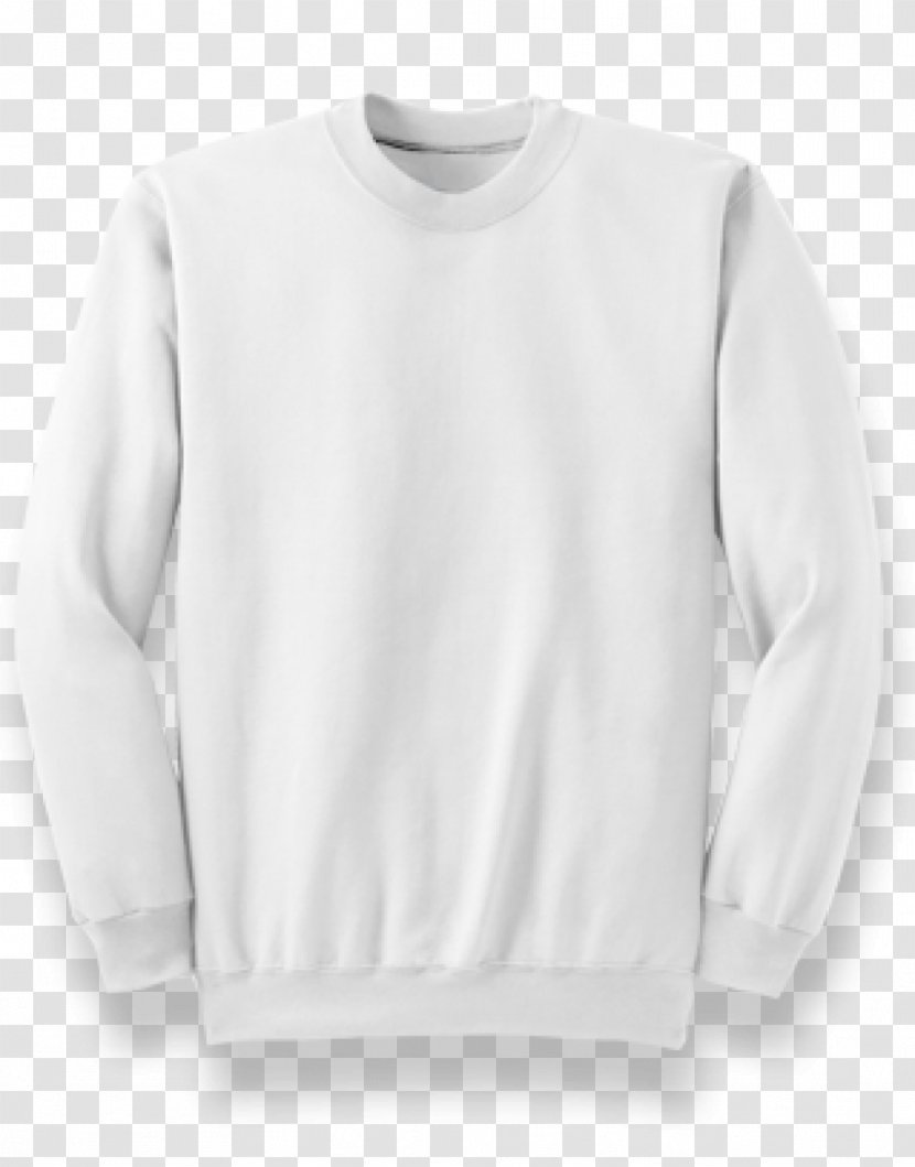 Sleeve T-shirt Hoodie Crew Neck Sweater - Long Sleeved T Shirt Transparent PNG