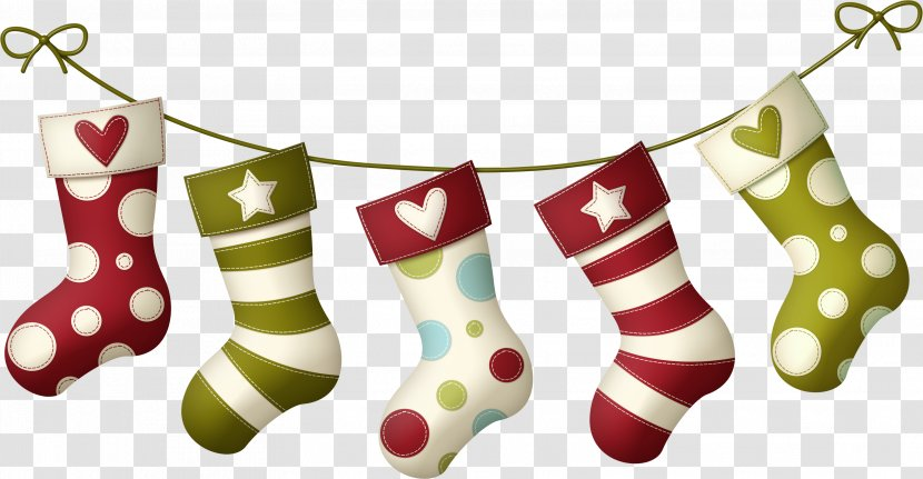 Christmas Stocking Sock - Socks Transparent PNG