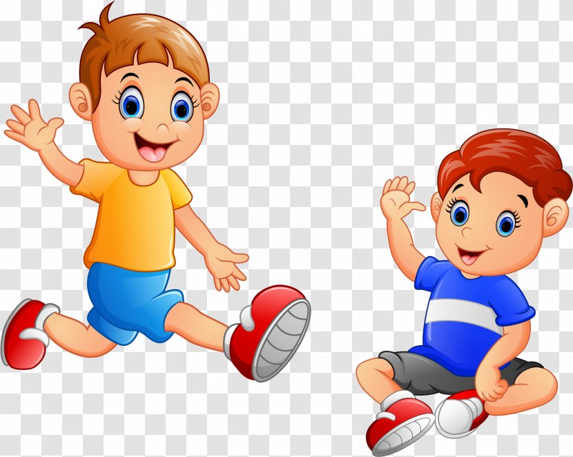 Kids Playing Cartoon - Boyfriend - Soccer Ball With Transparent PNG