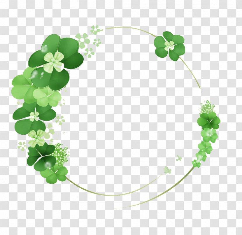 Green Clover Ring - Advertising - Leaf Transparent PNG