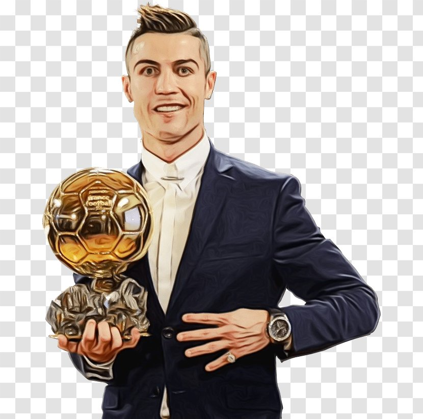 Trophy Cartoon Cristiano Ronaldo Soccer Ball Transparent Png