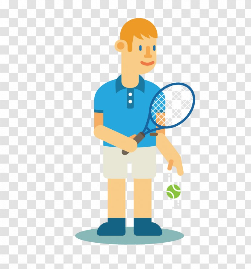 Tennis Player Cartoon Clip Art Male Transparent Png