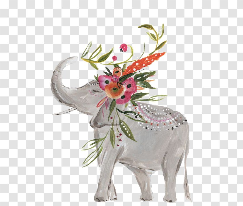 IPhone 7 Plus 6 X 6S 8 - Iphone 5s - Hand-painted Baby Elephant Transparent PNG