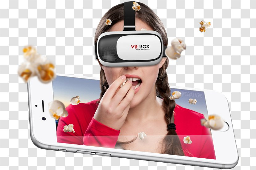 Head Mounted Display Mobile Phones Virtual Reality Immersion 3d Brille Electronic Device Glasses Transparent Png