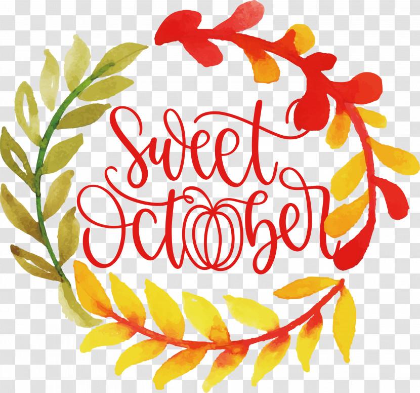 Sweet October October Fall Transparent PNG