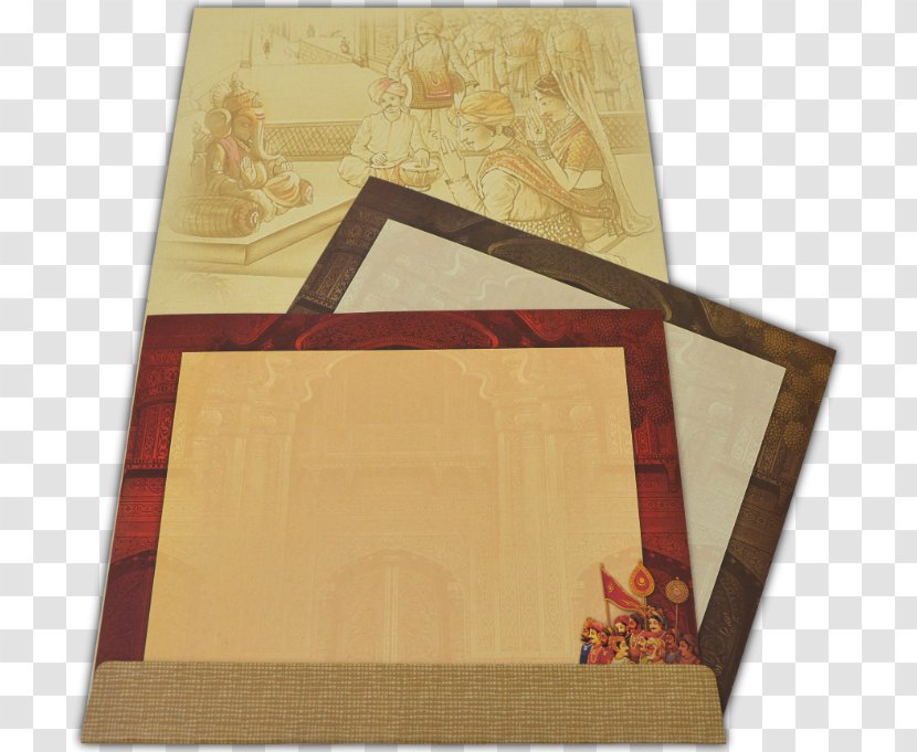 Paper Wood Stain Flooring Varnish Placemat Indian Wedding Card Transparent Png