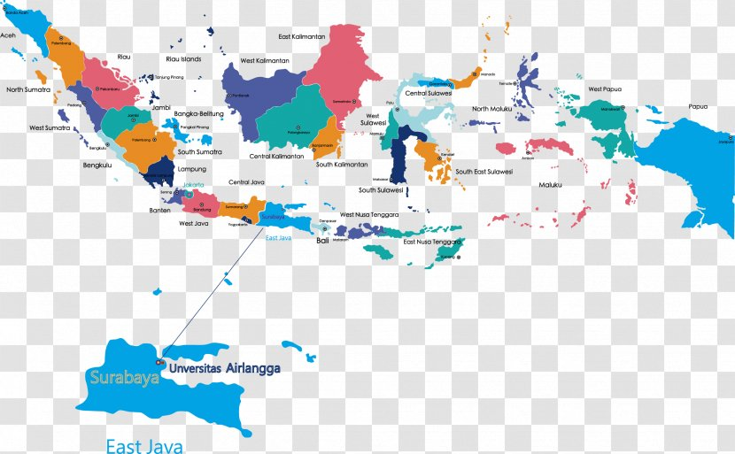 Blank Map Provinces Of Indonesia - Water Resources - Taiwan Transparent PNG