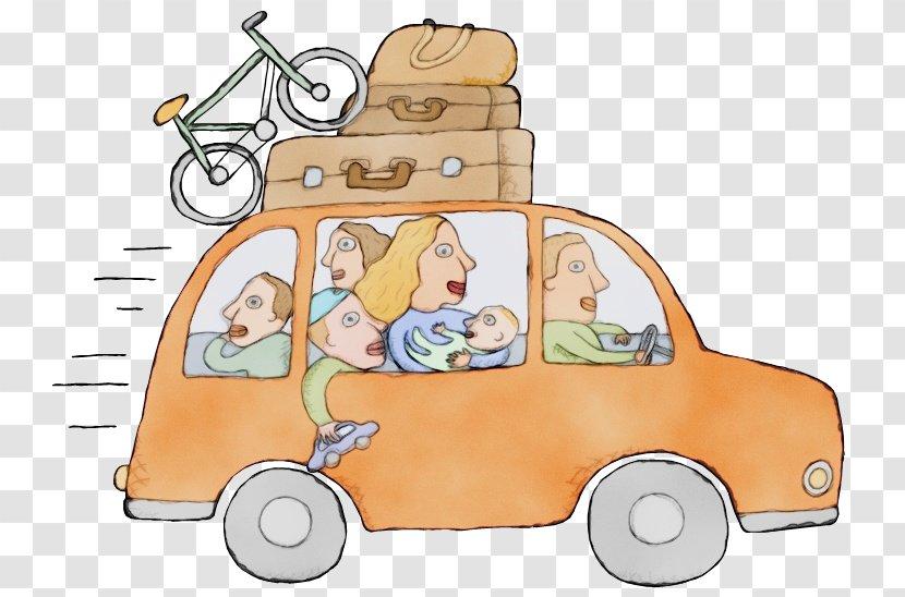 Watercolor Summer - Car - Driving Transparent PNG