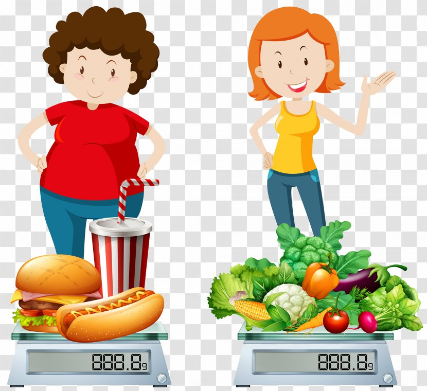 Junk Food Health Clip Art And Healthy Compare Transparent Png