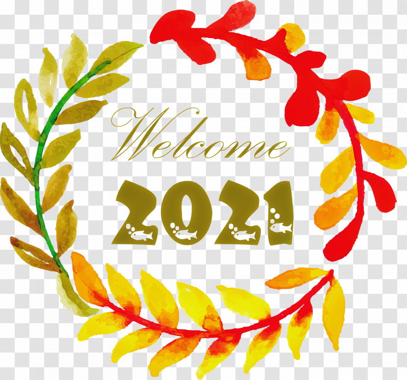 Happy New Year 2021 Welcome 2021 Hello 2021 Transparent PNG