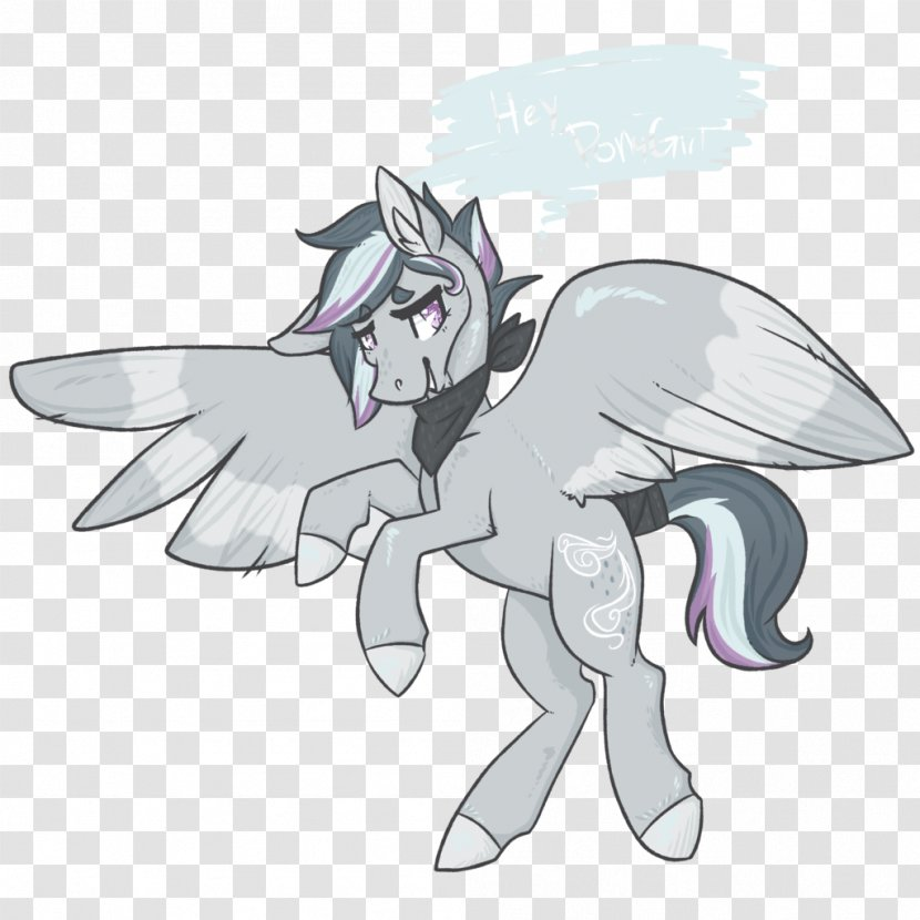 Pony Horse Cartoon Drawing - Flower Transparent PNG
