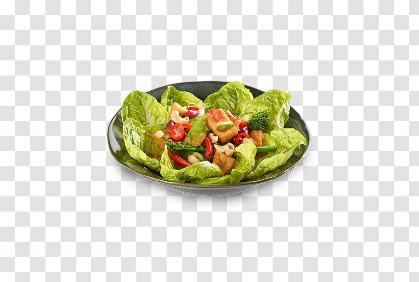 Romaine Lettuce Vegetarian Cuisine Caesar Salad Spinach Japanese - Dishware - Vegetable Transparent PNG