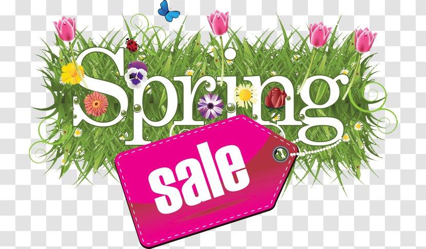 Floral Design Sales Clip Art - Cut Flowers - Spring Sale Transparent PNG