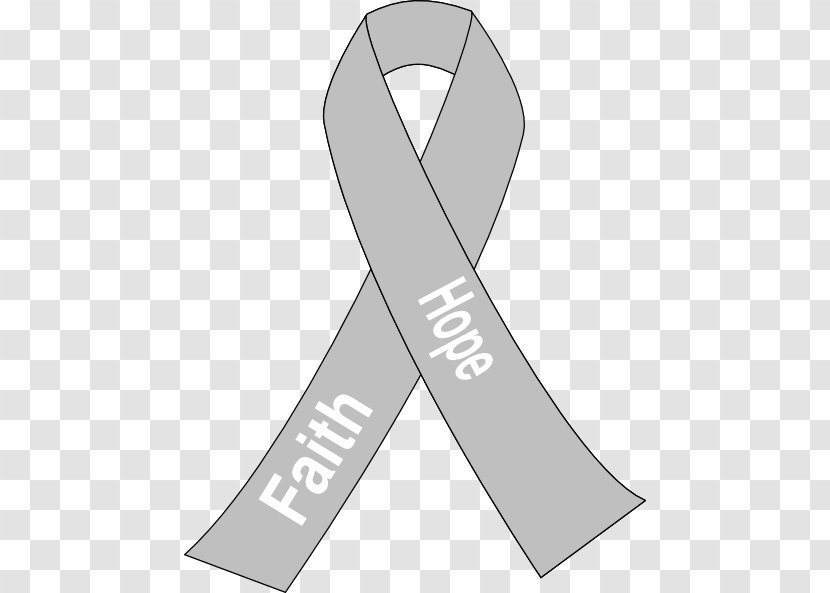 Clipart of a Gray Awareness Ribbon - Royalty Free Vector Illustration by  inkgraphics #1404026