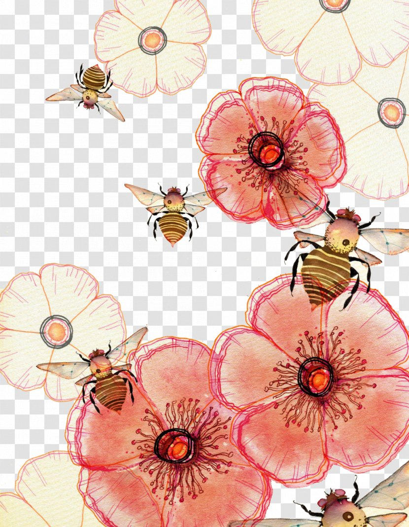 Watercolor Painting Drawing Art Illustration - Honey Bees Transparent PNG