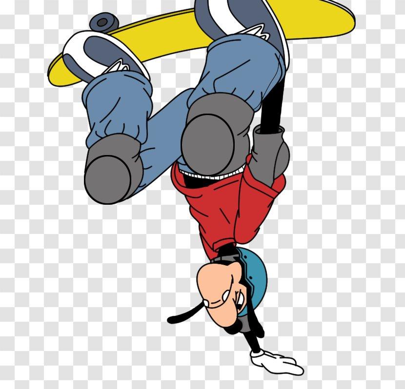Max Goof Disney S Extremely Goofy Skateboarding Drawing Art Movie Flat Shading Transparent Png