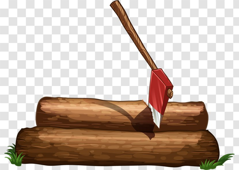 Axe Royalty-free Clip Art - Inserted In The Wood Ax Transparent PNG