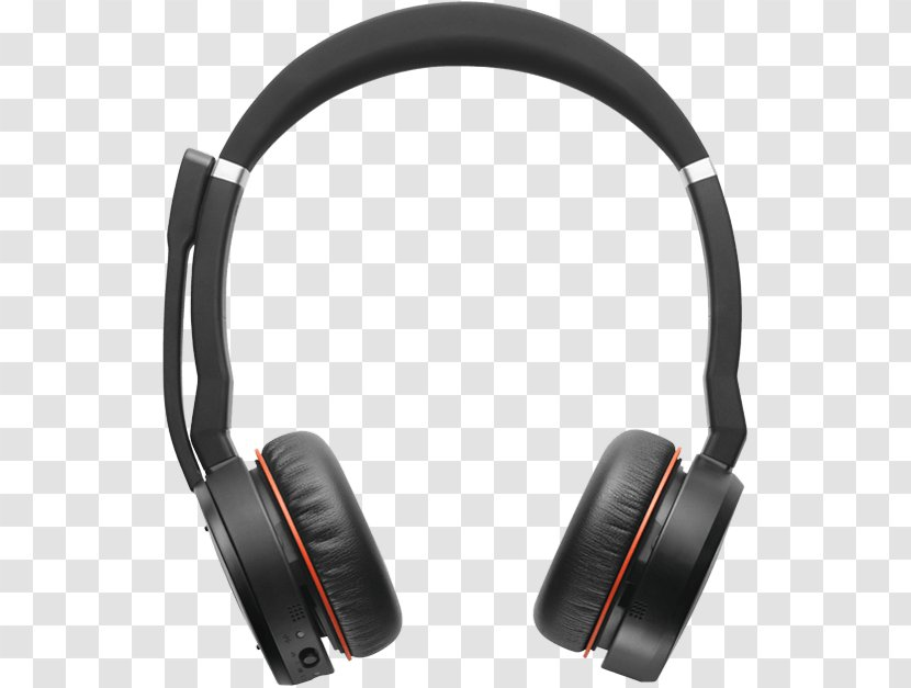 Jabra Evolve 75 Uc Stereo Headphones 65 Wireless Bluetooth Headset Transparent Png