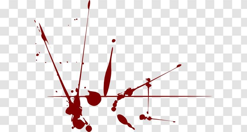 Blood Splatter Film Clip Art - Silhouette - Drips Cliparts Transparent PNG