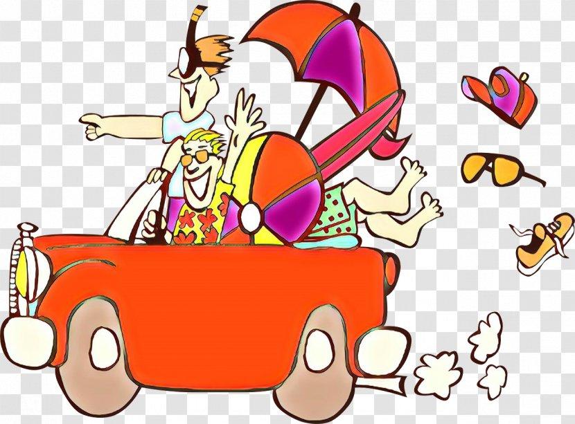 Summer Trip - Road - Vehicle Cartoon Transparent PNG