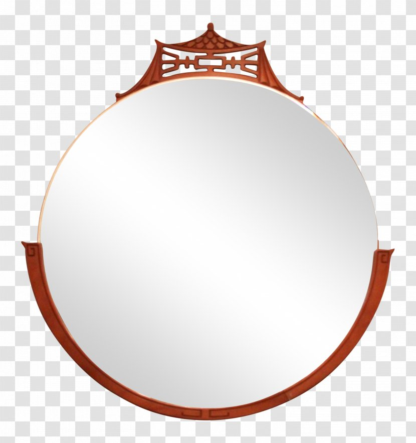 Wall Mirror Antique Gold Mid Century Modern Circle Gilding Transparent Png
