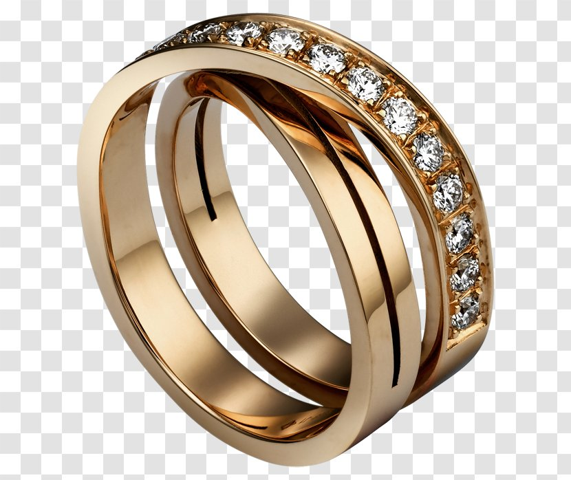 Earring Cartier Jewellery Engagement Ring Gold Jewelry Diamond Material Free To Pull The Image Transparent Png