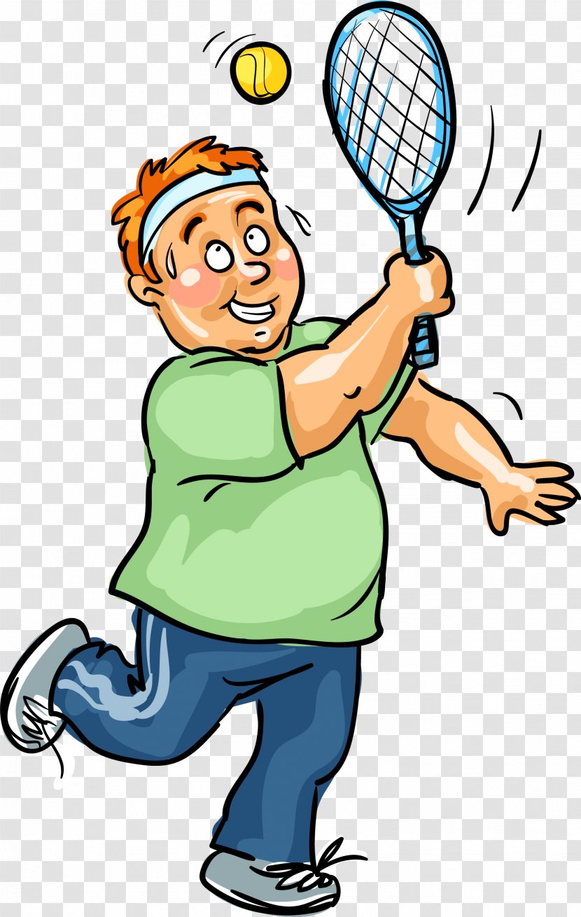Clip Art Drawing A Vector Tennis Player Transparent Png