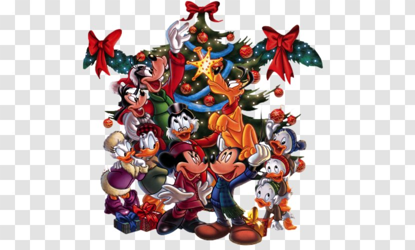 Mickey Mouse Minnie Donald Duck Goofy Christmas Transparent Png