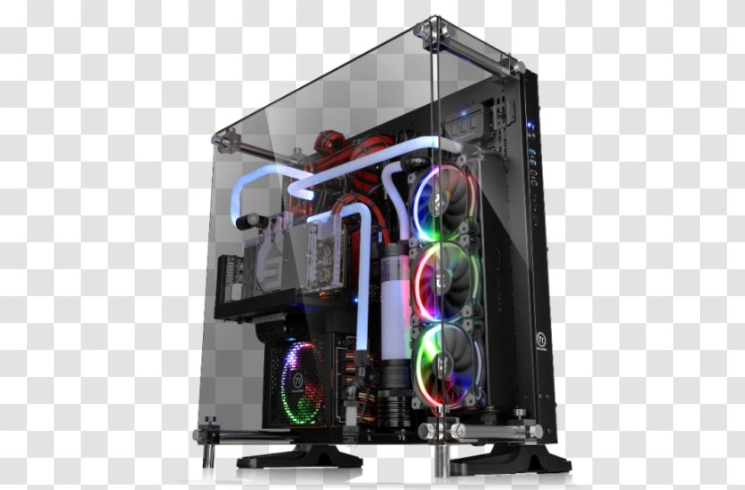 Computer Cases & Housings Thermaltake Commander MS-I Power Supply Unit ATX Window - Toughened Glass - Display Rack Transparent PNG