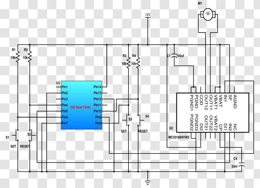 Dc Motor Controller Wiring Diagram from img1.pnghut.com