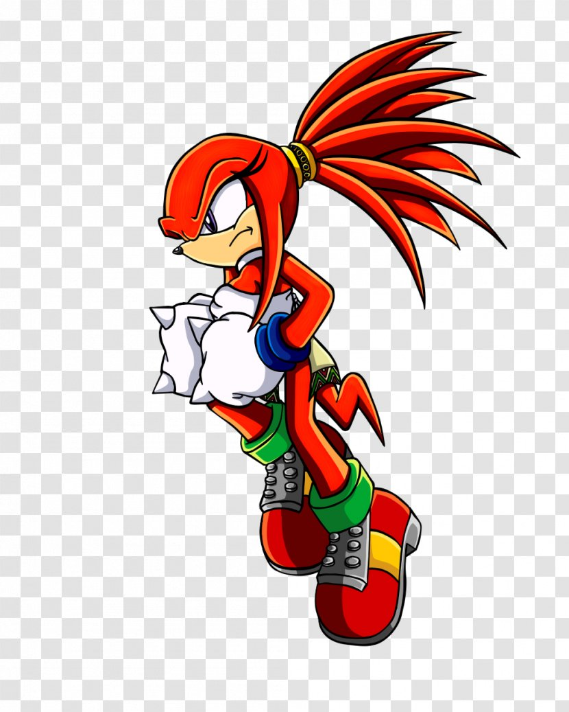 Knuckles The Echidna Sonic Hedgehog Tails Amy Rose Art Mythical Creature Transparent Png