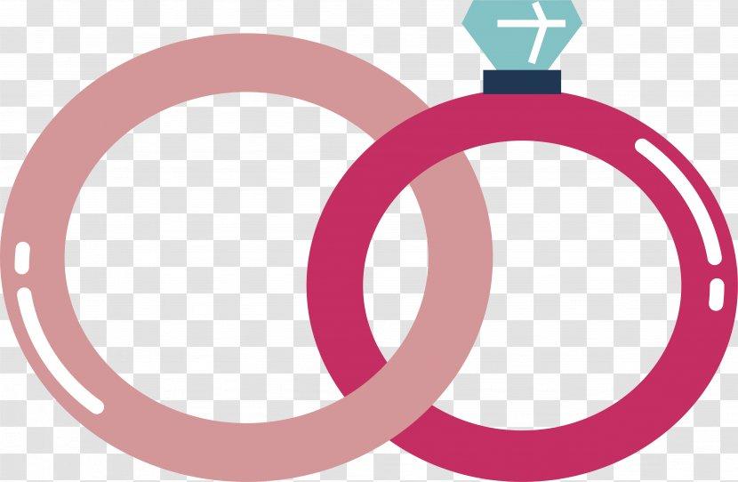 wedding ring euclidean vector logo pink transparent png wedding ring euclidean vector logo