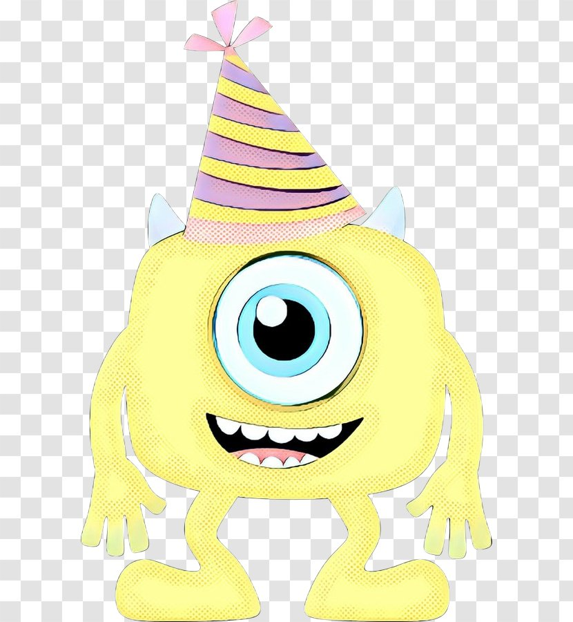 Party Hat Cartoon Character Smile Transparent Png