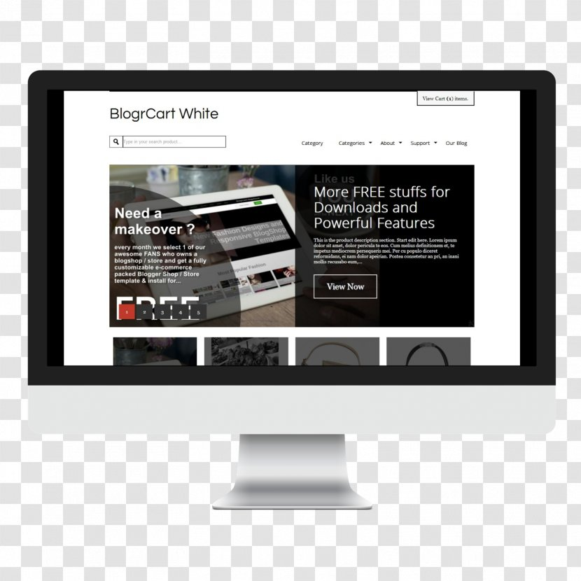 Responsive Web Design Blogger Template Shopping Cart Software E Commerce 404 Transparent Png