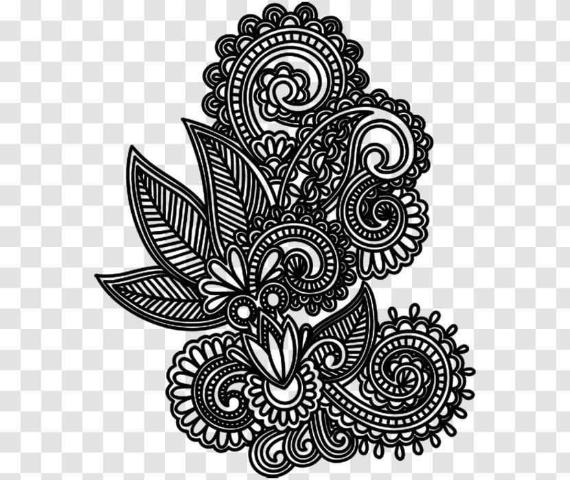Background Motif Mehndi Designs Traditional Henna Body Art Coloring Book Blackandwhite Transparent Png