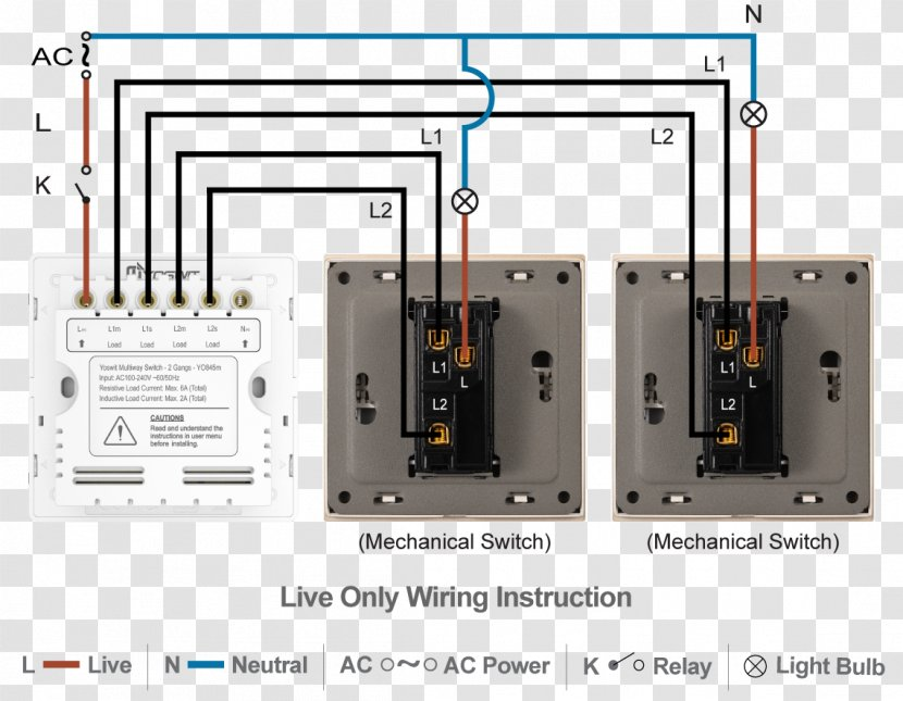 Circuit Breaker Electrical Switches Wiring Diagram Wires & Cable -  Technology - Zwave Transparent PNGPNGHUT