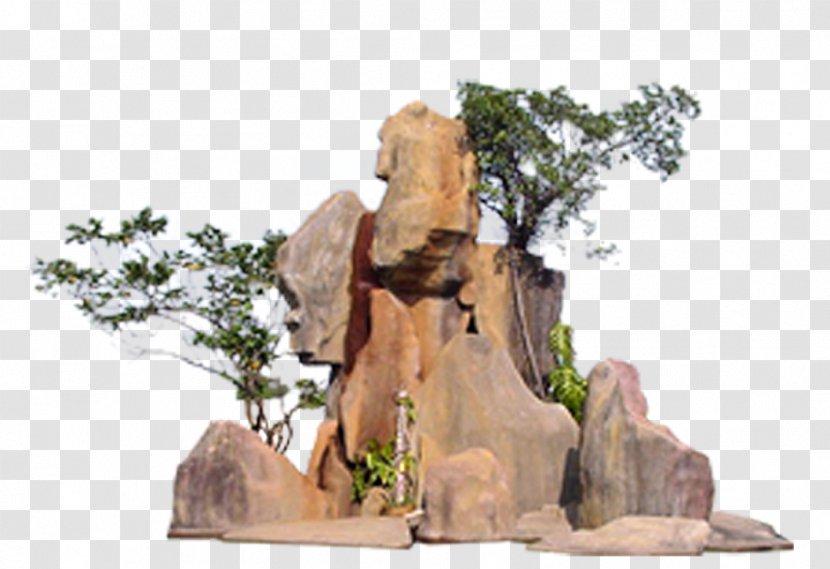Rock Garden Sculpture Fountain - Rocks Design Transparent PNG