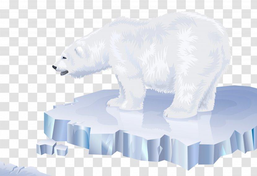 Polar Bear On Ice Clip Art