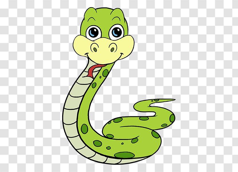 Snake Cartoon Drawing - Royaltyfree - Snakes Transparent PNG
