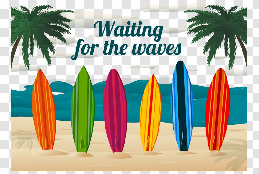 Surfing Surfboard Beach Clip Art - Equipment And Supplies - Summer Background Vector Transparent PNG