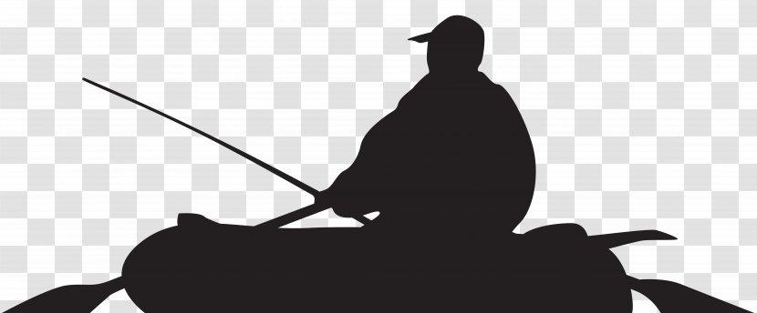 Silhouette Fisherman Fishing Boat Clip Art Transparent Png