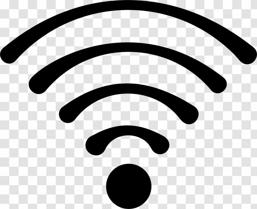 Network Cartoon Wifi Blackandwhite Symbol Transparent Png