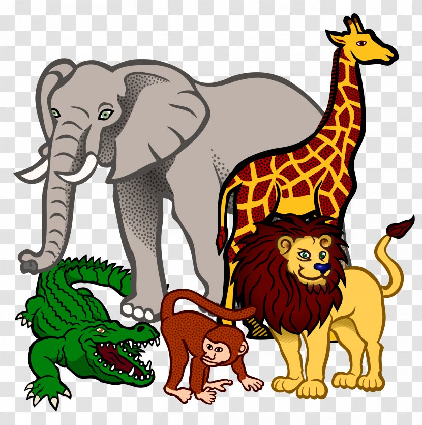 Fauna Of Africa Lion Clip Art - Giraffidae - Cliparts Transparent PNG