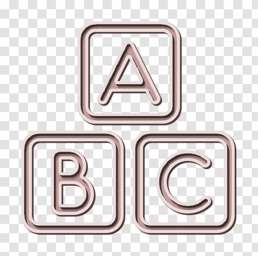 ABC Squares Icon Abc Icon Education Icon Transparent PNG