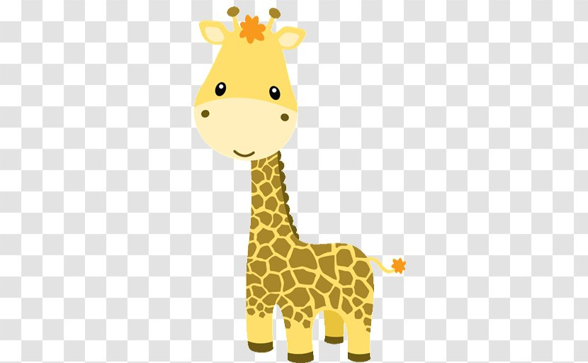 Baby Jungle Animals Zoo Clip Art - Northern Giraffe - Solo Cliparts Transparent PNG